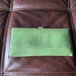 Lodis Green Leather Wallet